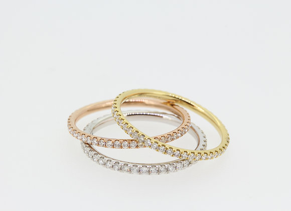 18ct diamond  G colour SI2 stacking rings sold individually