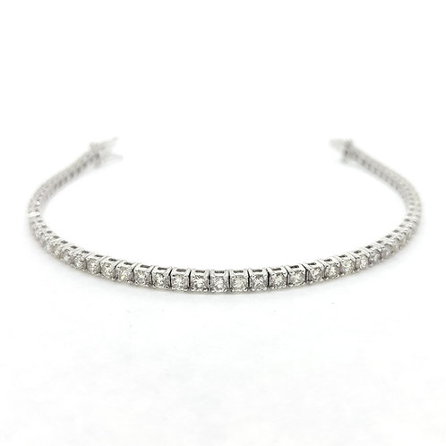 18Ct diamond line bracelet 5.10Cts