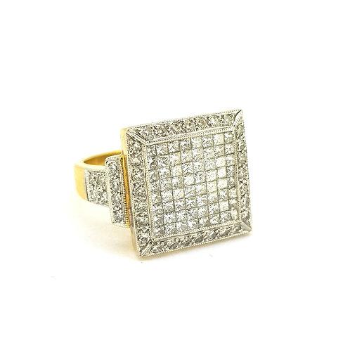 Unisex diamond cluster ring D2.01Cts