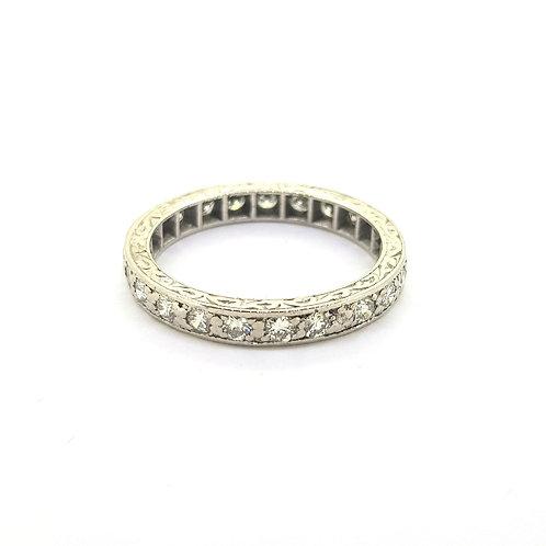 Full eternity diamond ring 9ct white gold