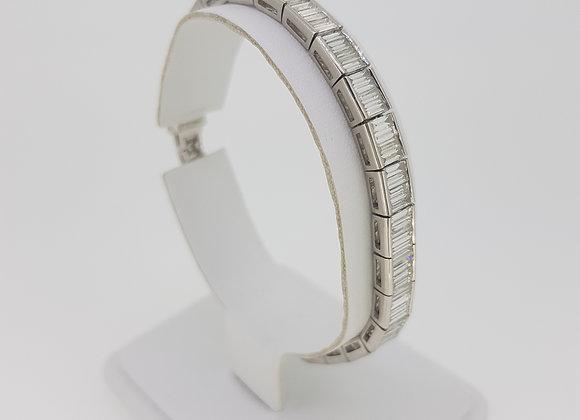 17.75 diamond line bracelet est12cts platinum