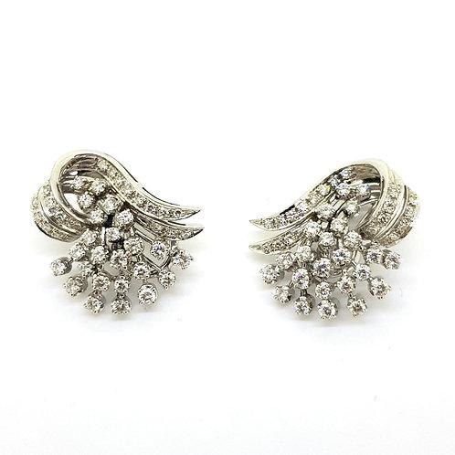 Diamond cluster earrings 13.5gms est.3.0Cts