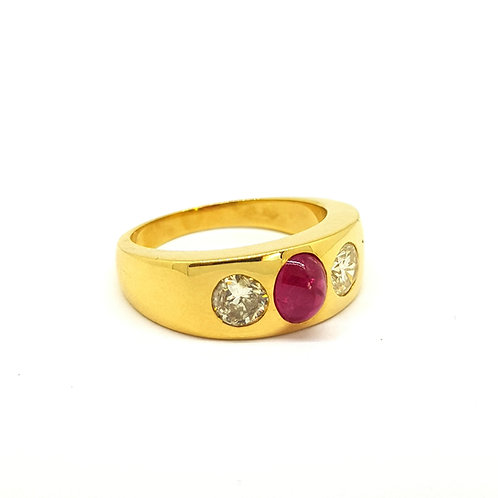 Gents Ruby and Diamond ring