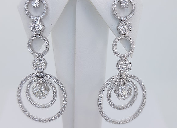 Diamond drop earrings 3.0cts