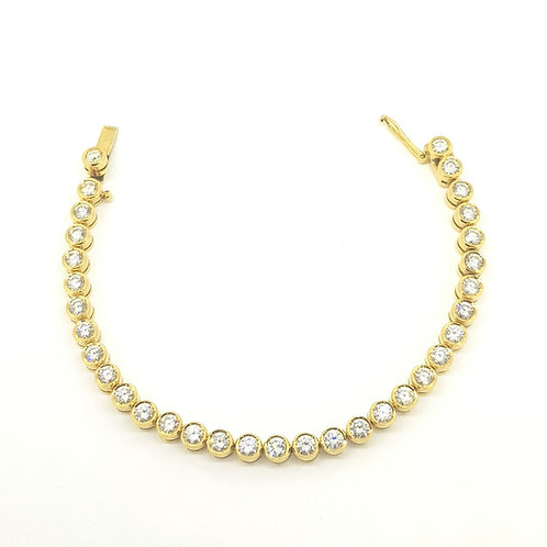 Diamond tennis bracelet estimated minimum 8.25 carats