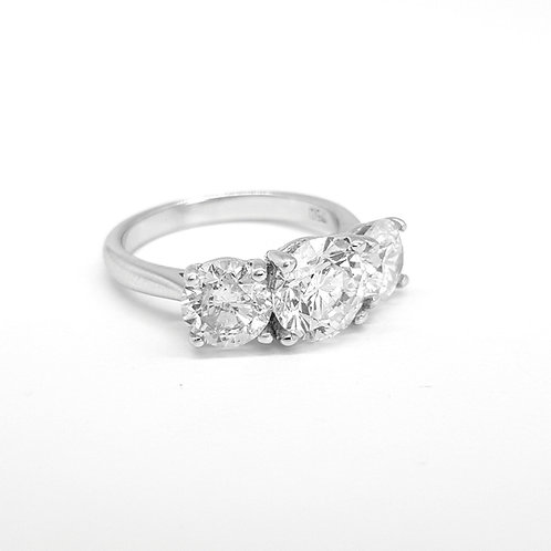 Diamond three stone ring.