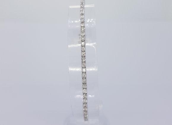 Diamond line bracelet 3.20cts 18ct WG