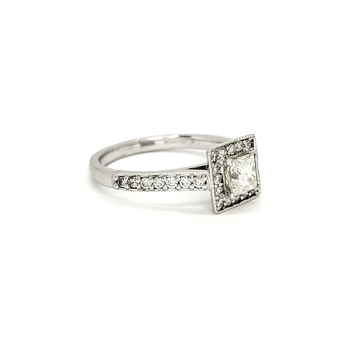 Princess cut diamond ring D0.52CTS X0.36CTS