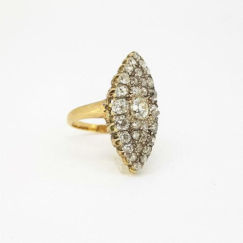Edwardian marquee diamond ring.