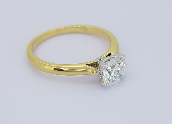 Solitaire diamond ring d0.80cts