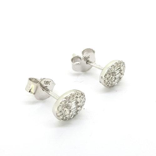 18 ct diamond studs 0.33CTS