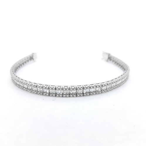 Baguette diamond bracelet D4.42Cts