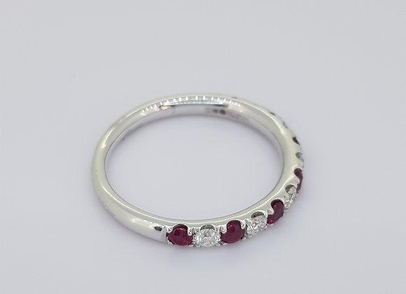 Ruby and diamond half et r0.35cts d0.25cts