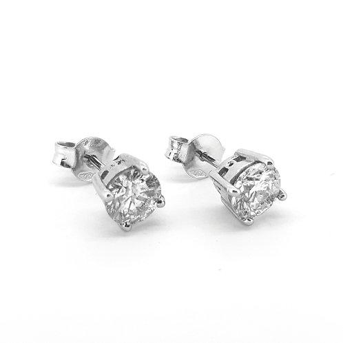 Diamond earrings 1.45Cts