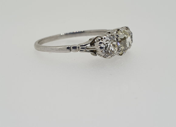 Old cut diamond 3 stone ring