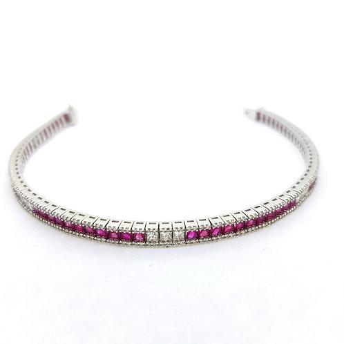 Ruby diamond bracelet D2.32CTS R8.62CTS