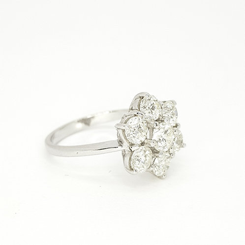 Diamond daisy cluster ring 2.30CTS