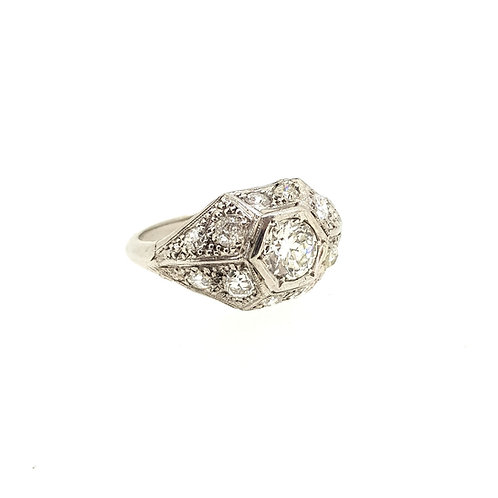 Art Deco 18Ct diamond cluster ring