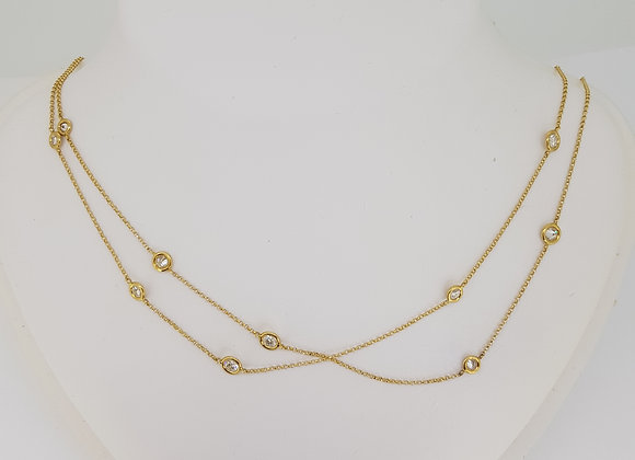 Gold diamond chain 2.76cts
