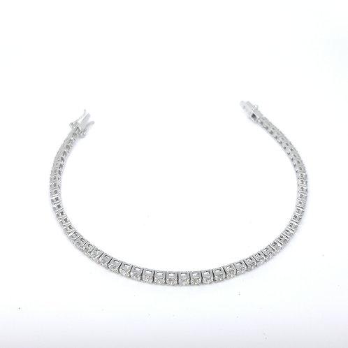 Diamond line bracelet D5.20CTS 10.34Gms