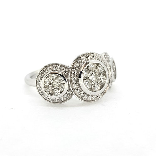 18Ct Diamond cluster ring 1.50Cts