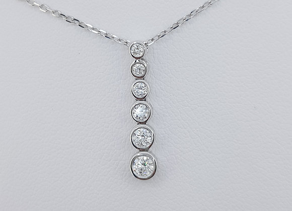 Diamond pendant and chain tdw0.40cts