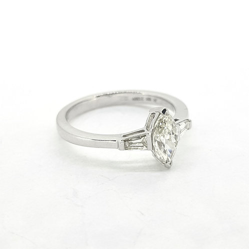 Marquis shaped diamond ring 0.57Cts x0.21Cts