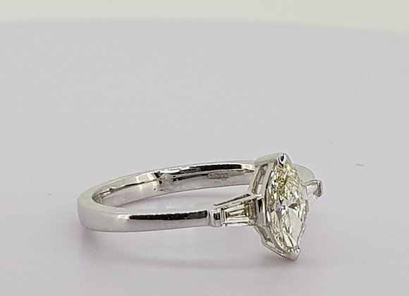 Marquis diamond engagement ring.
