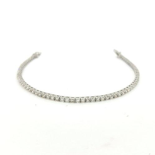 18Ct diamond line bracelet 3.40Cts