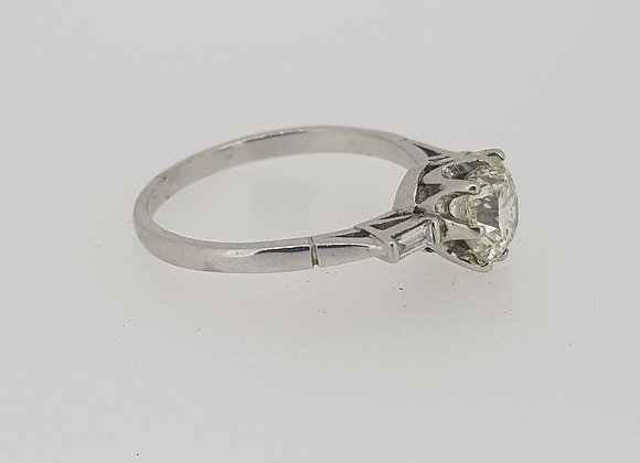 Old cut solitaire diamond ring