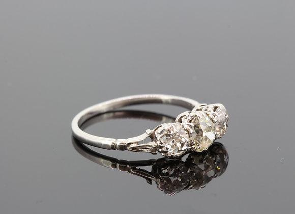 Antique diamond three stone ring est1.50cts