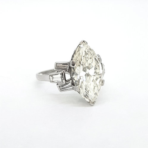 Vintage marquee and kite diamond platinum ring.