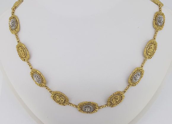 Diamond set necklace 42.5grams