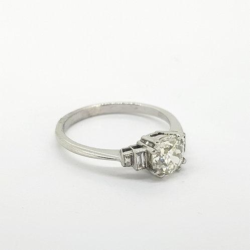 Platinum Solitaire diamond ring 0.91cts