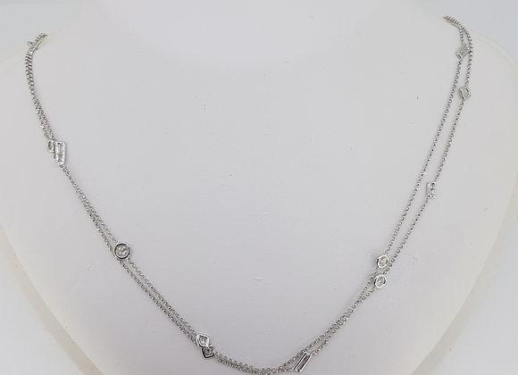 Random shaped diamond chain necklace.