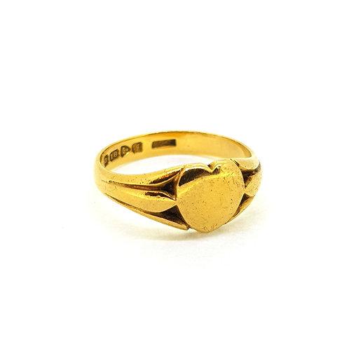 18Ct Cygnet ring 1909 Chester
