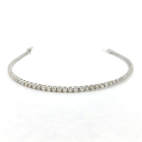 18Ct diamond line bracelet 2.95Cts