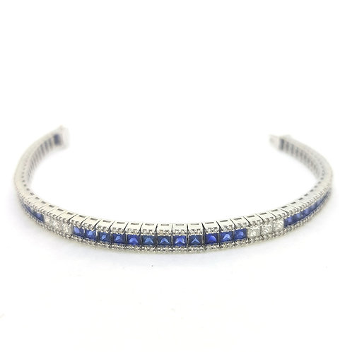 Sapphire and diamond bracelet BS7.03CTS D2.21CTS