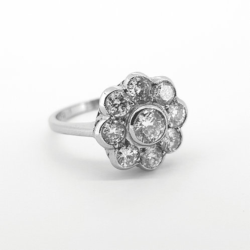 Daisy diamond cluster ring 1.50CTS