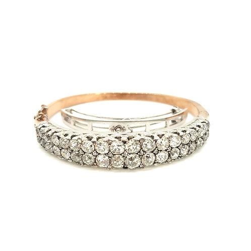 Late Victorian diamond bangle.