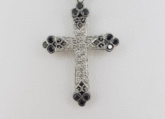 Gothic diamond cross and chain.