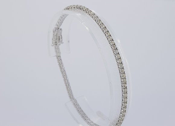Diamond line bracelet 2.95cts
