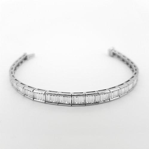 Graduated baguette diamond line bracelet 6.02CTS