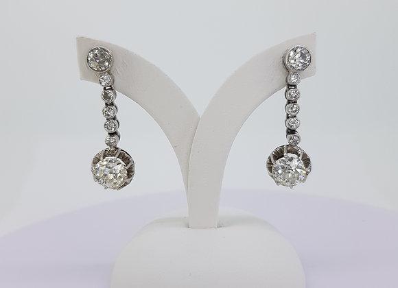 Diamond drop earrings est4.0cts