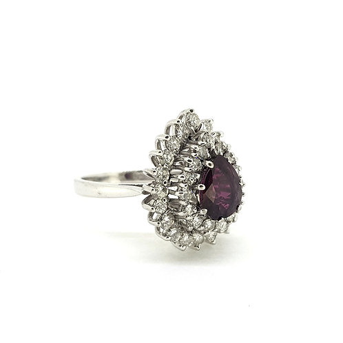 Ruby and diamond ring Est 1.0Ct with dia est. 1.5Cts