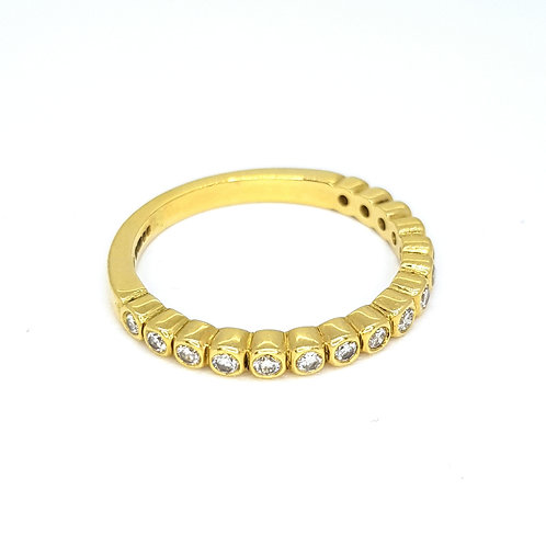 Half eternity band diamond ring