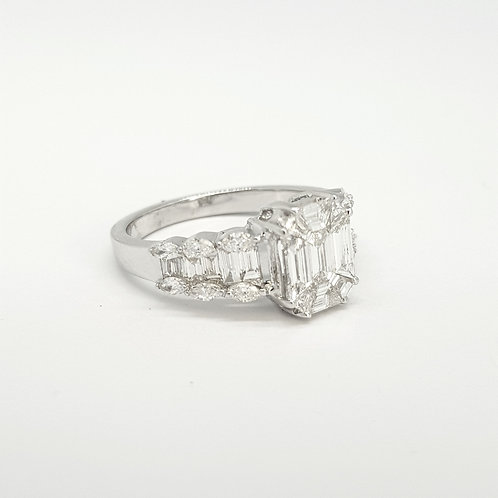 Illusion Set Diamond ring 1.45CTS