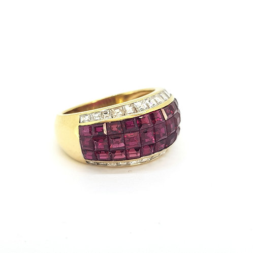 'ADLER' Ruby and diamond ring R3.58Cts D0.95Cts