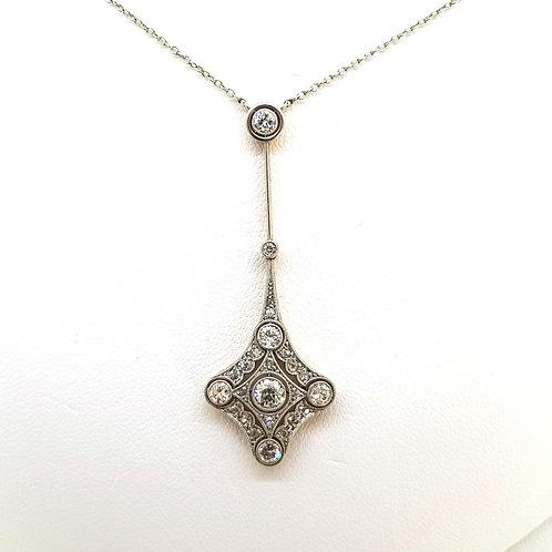 Belle Époque 18ct  Diamond Pendant