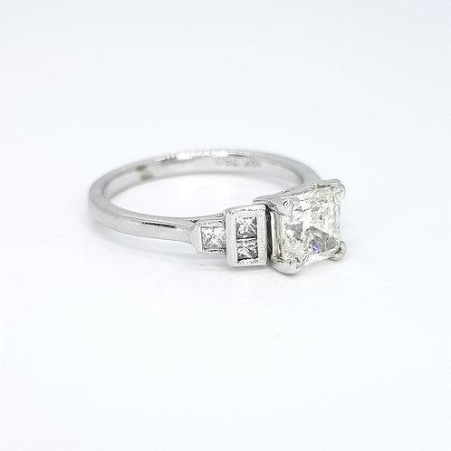 Princess cut diamond ring D1.00CTS
